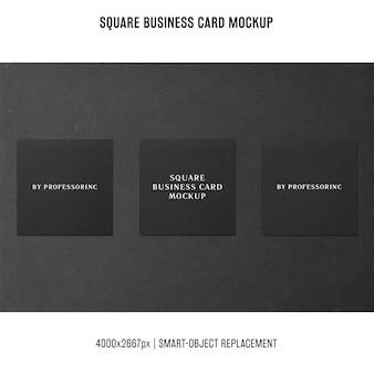 Vierkante visitekaartje mockup