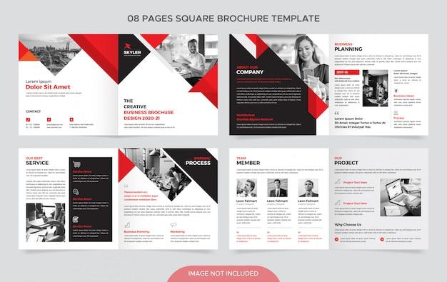 Vierkante zakelijke brochure sjabloon
