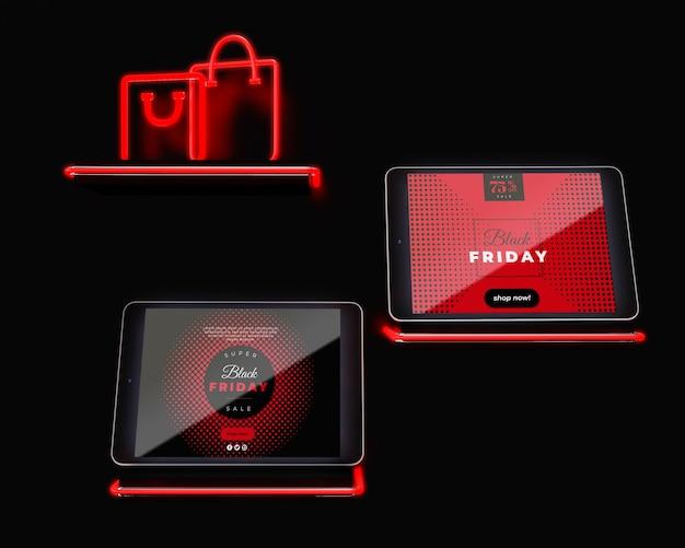 Viernes negro dispositivos disponibles en línea