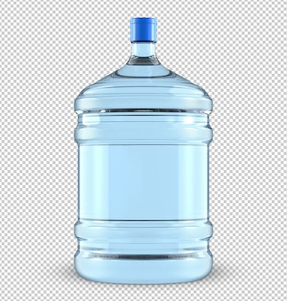 Vijf gallon grote plastic waterkoeler fles.