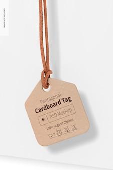 Vijfhoekig kartonnen labelmodel, hangend