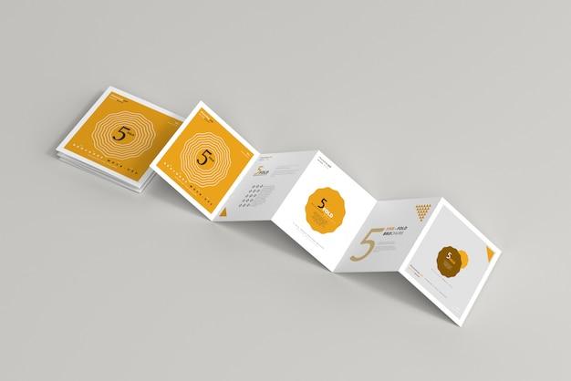 Vijfvoudig vierkant brochuremodel