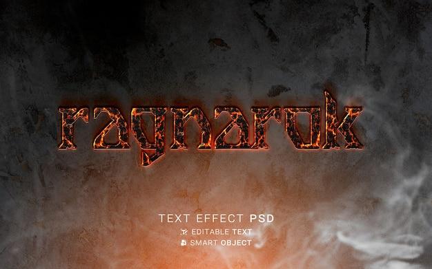 Viking-ontwerp met teksteffect