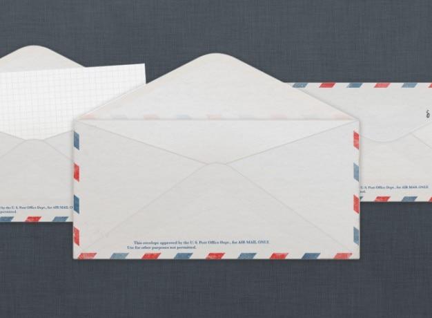 Vintage aérea de los ee.uu. sobre de correo