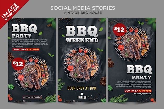 Vintage bbq house social media verhalen series