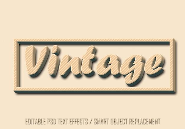 Vintage bewerkbaar teksteffect