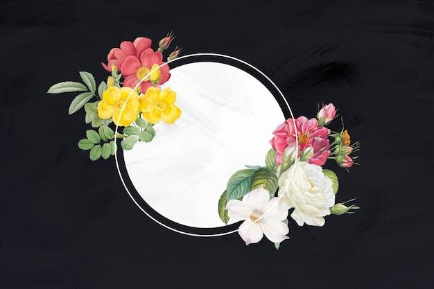 Vintage bloem frame banner