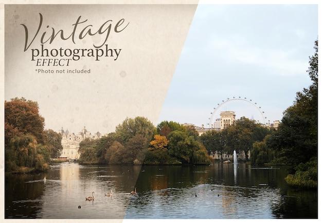 Vintage fotografie foto-effect sjabloon