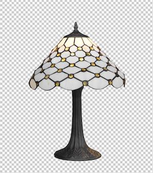 Vintage geïsoleerde lamp tegen een witte achtergrond