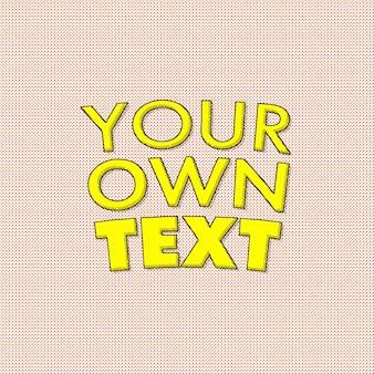 Vintage komische teksteffect sjabloon