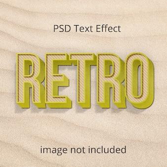 Vintage retro photoshop teksteffect laagstijl