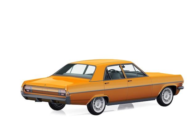Vintage sedan auto mockup