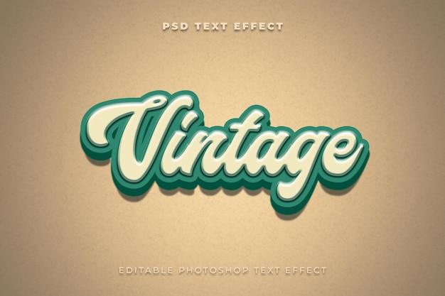Vintage teksteffectsjabloon Premium Psd
