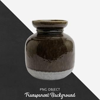 Vintage vaas of bloempot op transparant