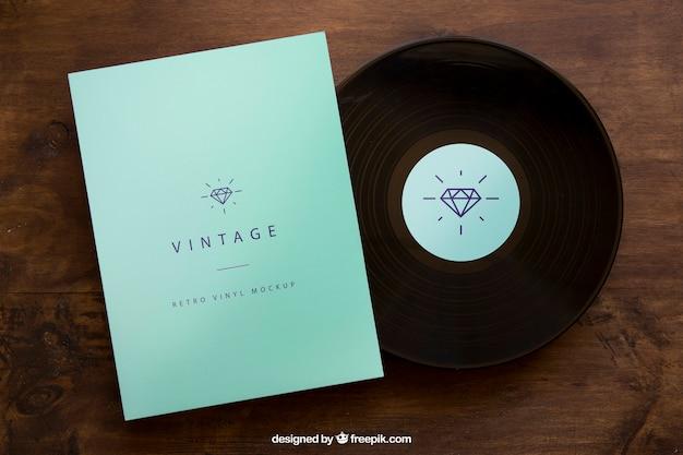 Vinyl en cover mockup