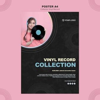 Vinyl record poster sjabloon
