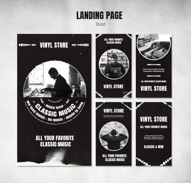Vinyl winkel instagram verhalen sjabloon