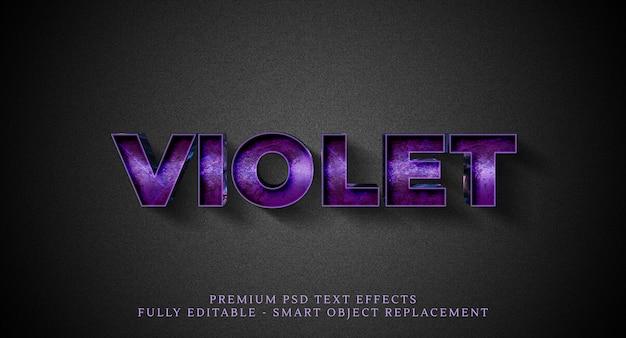 Violet tekststijleffect, teksteffecten