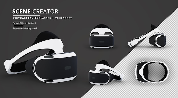 Virtual reality-bril vr-headset scene creator