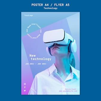Virtuele realiteit afdruksjabloon