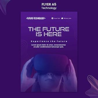 Virtuele realiteit flyer-sjabloon