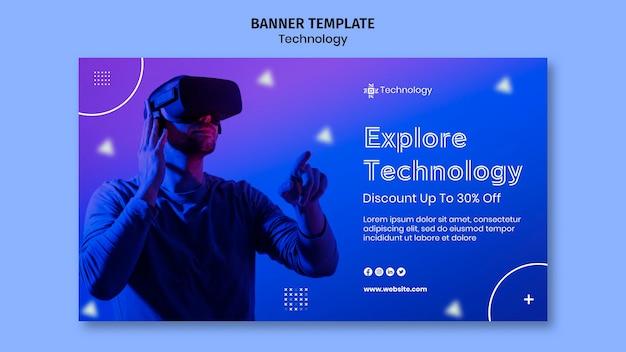 Virtuele realiteit horizontale banner