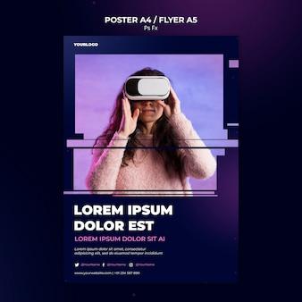 Virtuele realiteit sjabloon poster
