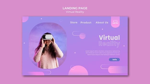 Virtuele realiteit spelen samen bestemmingspagina