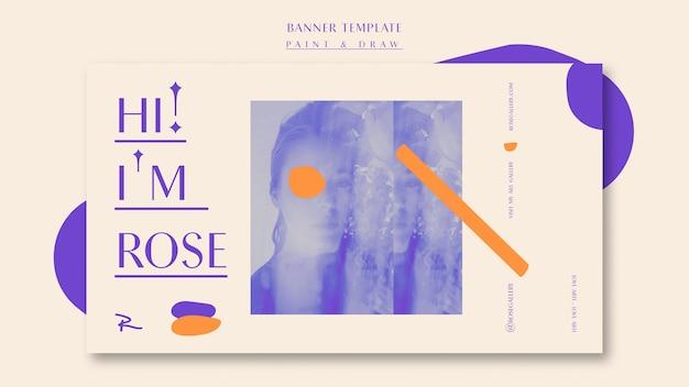 Visita il modello di banner della galleria d'arte