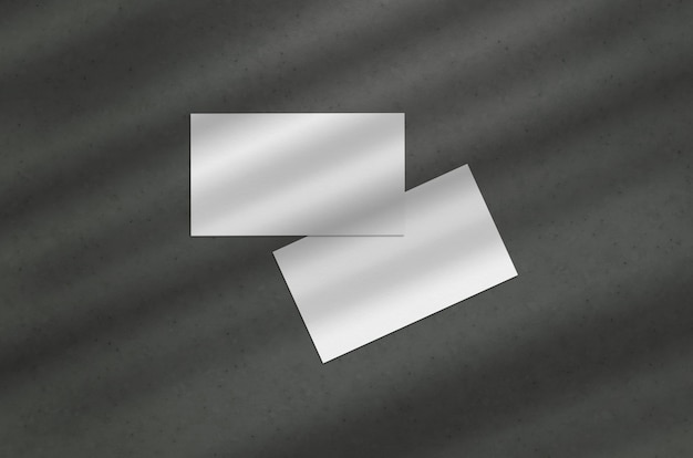 Visitekaartje 3.5x2 inch mockup op donkere achtergrond