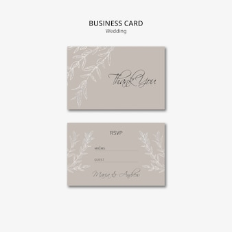 Visitekaartje bruiloft ontwerp Gratis Psd