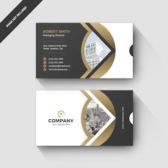 Visitekaartje elegant ontwerp gouden ontwerp