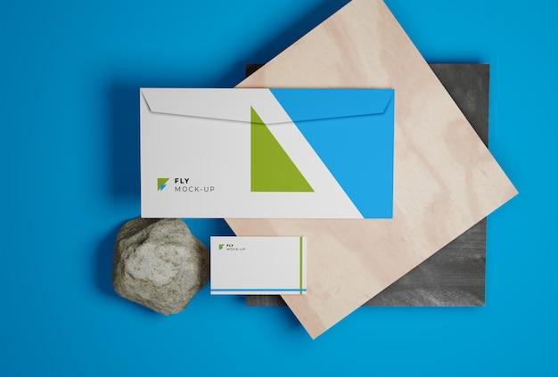 Visitekaartje en envelop