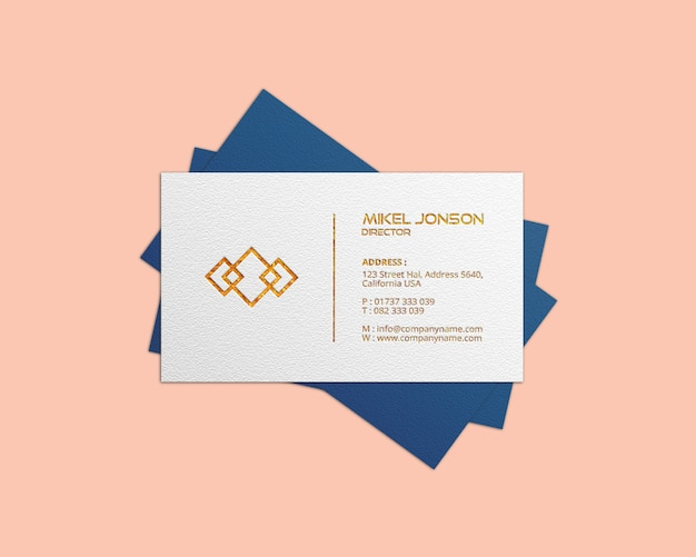Visitekaartje logo mockup