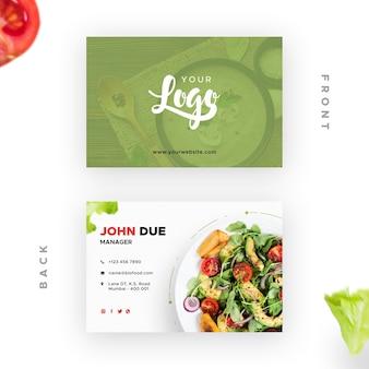 Visitekaartje met bio-restaurant