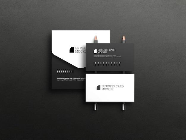 Visitekaartje met envelopmodel