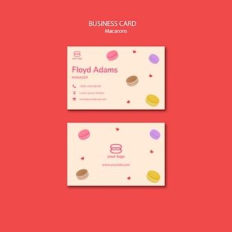 Visitekaartje met macarons