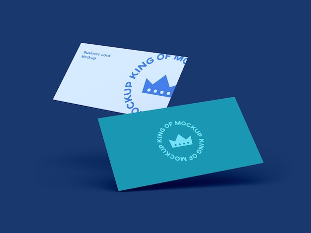 Visitekaartje mockup design geïsoleerd