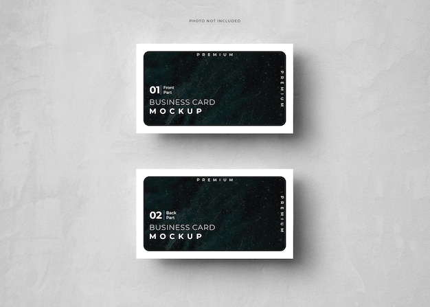 Visitekaartje mockup design rendering
