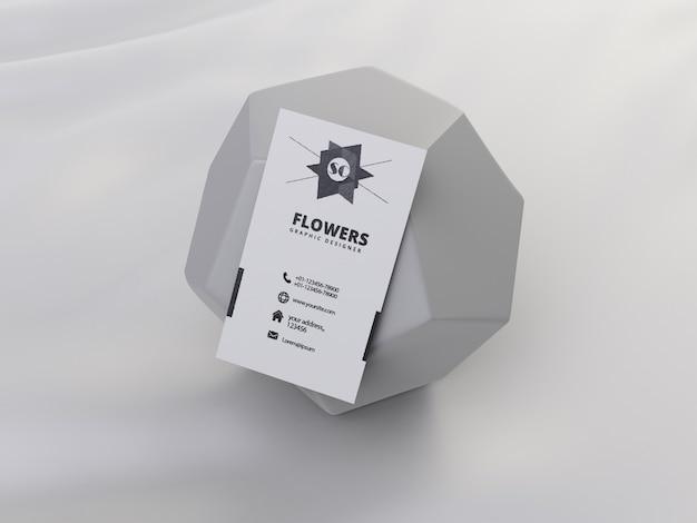 Visitekaartje mockup met geometrische vorm