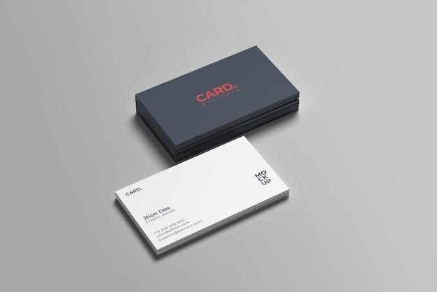 Visitekaartje mockup ontwerp geïsoleerd