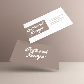 Visitekaartje mockup-ontwerp in 3d-rendering
