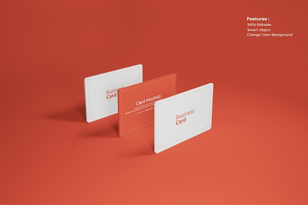 Visitekaartje mockup ontwerpweergave