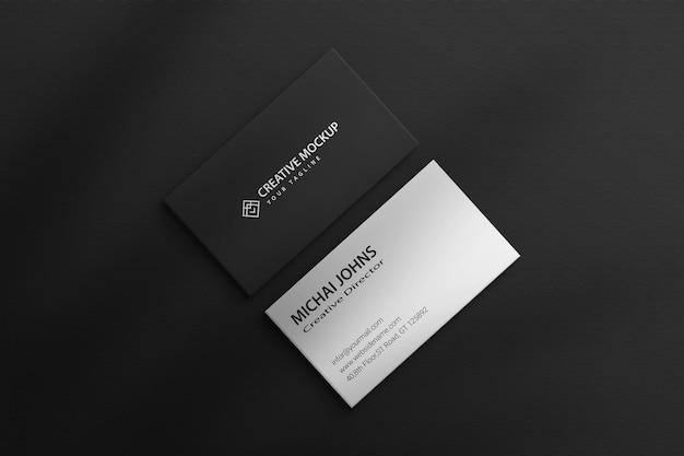 Visitekaartje mockup psd papieren frame mockup papier premium