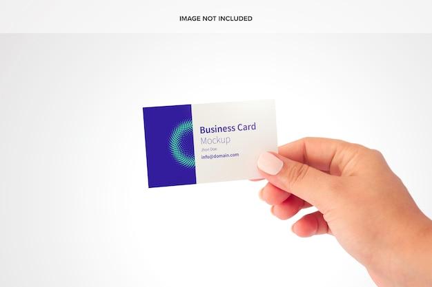 Visitekaartje mockup Premium Psd