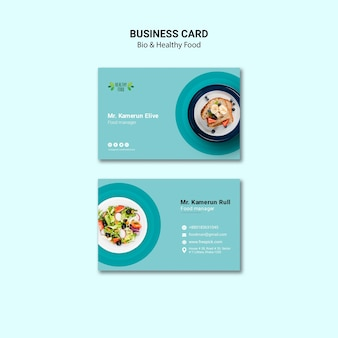 Visitekaartje van restaurant sjabloon