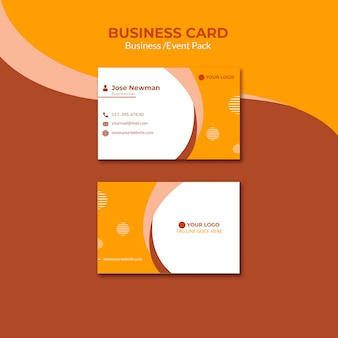 Visitekaartjeontwerp voor zakenman