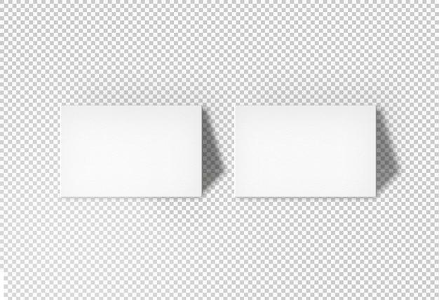 Visitekaartjes met geïsoleerde muur