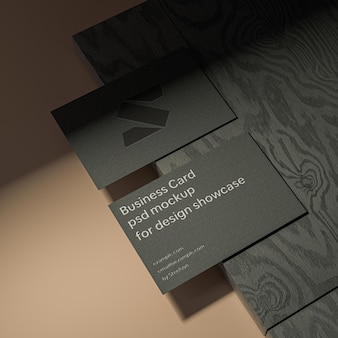 Visitekaartjes mockup ontwerppresentatie