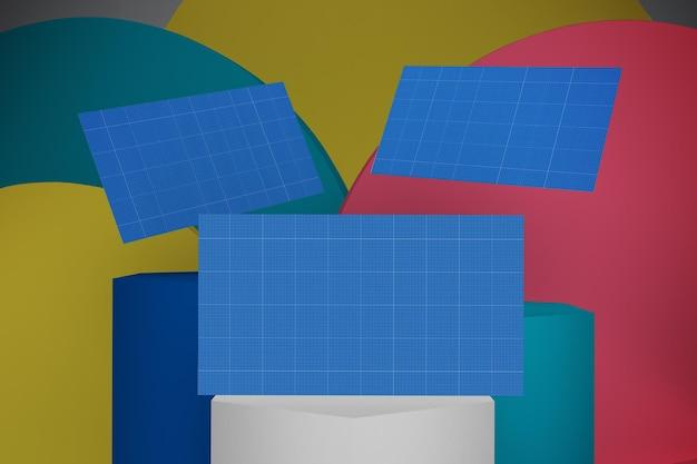 Visitekaartjes ontwerp mockup